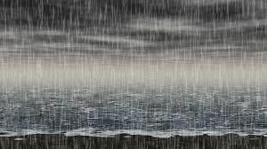 imagenes de paisajes lluviosos vídeo inconsútil del lazo del paisaje lluvioso del mar almacen de