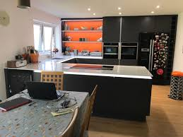handleless kitchen in matt graphite baldock hertfordshire