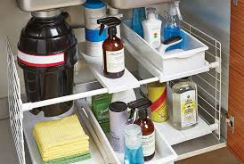 easy home expandable under sink shelf kitchen refresh undersink container stories