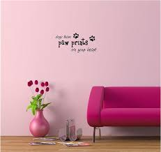amazon com dogs leave paw prints on your heart cute puppy wall amazon com dogs leave paw prints on your heart cute puppy wall art wall sayings quotes home kitchen