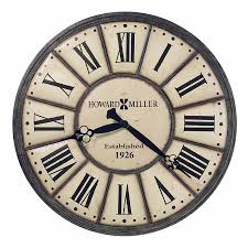 Barwick Clocks Howard Miller Distressed Antique Dial Nickel Ring Wall Clock
