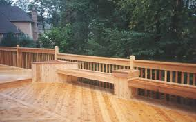 Decks With Benches Built In Cedar Deck Bench Part 17 Built In Deck Bench Deck Transitional