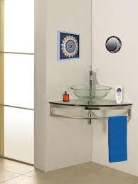 witching corner bathroom vanity vessel sink aboard corner counter