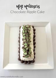 mint maltesers chocolate ripple cake create bake make