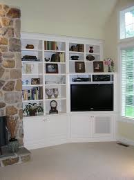 Corner Tv Cabinet For Flat Screens Built In Cabinetry For Your Flat Screen Tv Made By Custommade