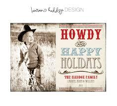 cowboy western photo cards chrismast cards ideas