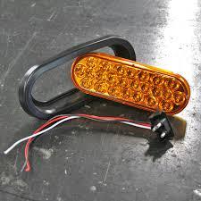 led oval strobe lights set of 2