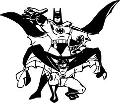 batman robin coloring wecoloringpage