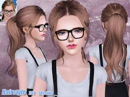 the sims 4 cc hair ponytail back wrapped ponytail hairstyle 201 by skysims sims 3 hairs