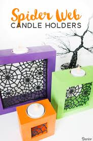 diy halloween candle holders with spider web die cuts darice