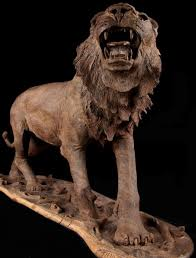 roaring lion statue roaring lion wood sculpture for sale
