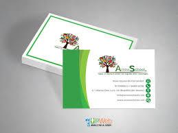 tarjeta de visita diseo tarjetas de visita arrow school diseño de paginas web