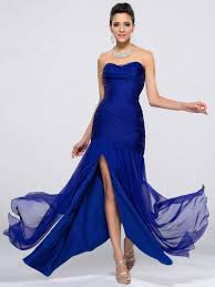 2016 cheap royal blue bridesmaid dresses split front sweetheart - Cheap Royal Blue Bridesmaid Dresses