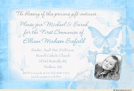 blessing invitation butterfly holy communion card beautiful script