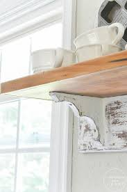 Distressed Wood Shelves by Anderson Grant Distressed Farmhouse Shelf