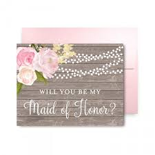 will you be my of honor gift will you be my bridesmaid card bridesmaid of honor gift