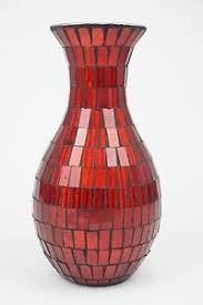 Mosiac Vase Red Mosaic Vase Ebay