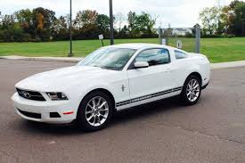 2010 ford mustang pony package whitepony 2011 ford mustang v6 premium coupe with pony packag