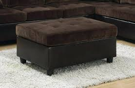 Tray Top Storage Ottoman Brown Leather Storage Ottoman With Tray Wish It Was Real Leather