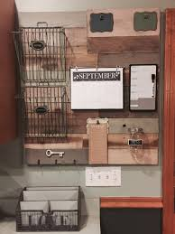 kitchen message center ideas family command center made from reclaimed wood pallets home