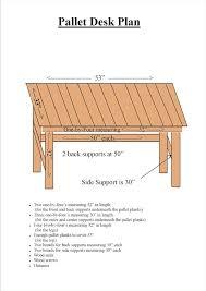 Wood Desk Plans by Diy Desk Made From Pallets Tutorial 99 Pallets