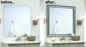 how to frame a bathroom mirror with molding bathroom how to frame a bathroom mirror video together with how to