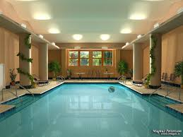 u shaped house cheap indoor pool ideas lighting wonderful chalet in courchevel