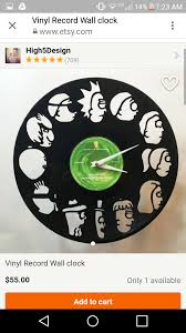 rick and morty vinyl wall clock 1 link to buy in comments
