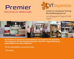 cabinet maker training courses company donation to cvt cabinet maker profession cvt center for
