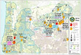 a map of oregon wildfires wildfire oregon dept of forestry large map