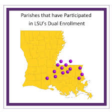 Lsu Parking Map College Readiness Dual Enrollment Program
