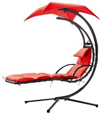 Hanging Chaise Lounge Chair Renava Bahama Outdoor Grey Hanging Lounge Chair Contemporary