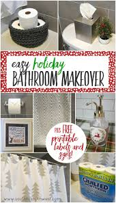 easy holiday bathroom makeover south to southwest