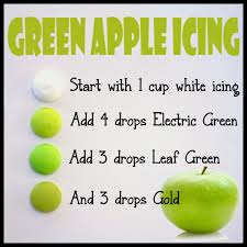 how to make green apple colored icing lilaloa how to make green