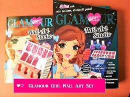 glamour nail art set with nail art design book