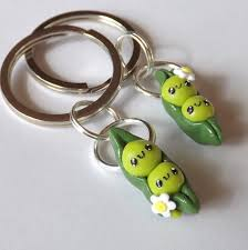 peas in a pod keychain best friend keychain on the hunt