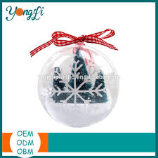 diy hanging clear party decoration plastic christmas ball with