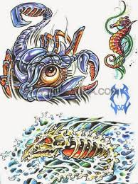 dangerous sea creature monster tattoo stencil golfian com