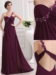 pretty purple prom dress cute prom formal dress one shoulder
