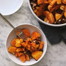 orange baked sweet potatoes leftovers smoothie in my bowl