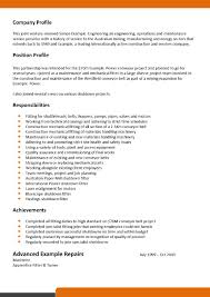 Mechanic Job Description Resume by Pipe Fitter Job Description Resume Free Resume Example And