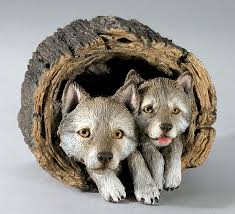 wildlife wolf figurines animal statues from country artists