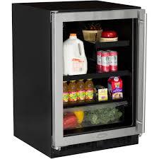 beverage cooler with glass door 24