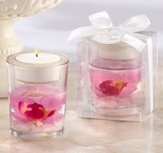 candle favors glass orchid gel candle favors