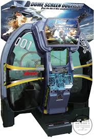 mach storm by namco a dome screened dogfight simulator at eag