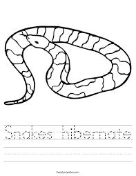 snakes hibernate worksheet twisty noodle