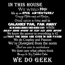 we are geeks art print fandom home decor by goodwitchboutique