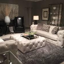 furniture cream leather bernhardt sofa with decorative cushions