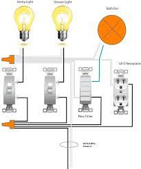 ceiling fan light switch wiring wiring a ceiling fan in bathroom