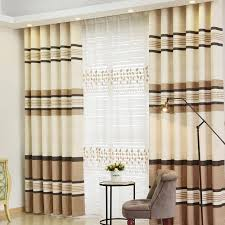 Thermal Energy Curtains Horizontal Striped Thermal Energy Saving Soundproof Curtains